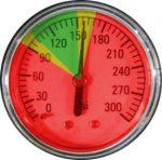 Manometr z wizualizacją ciśnienia pracy