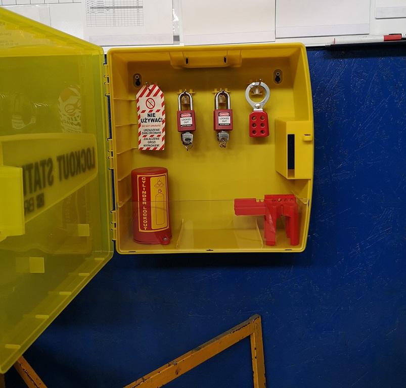 Stacja Lockout Tagout - wyposażenie