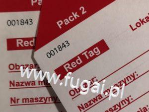 Numery na karcie Red Tag