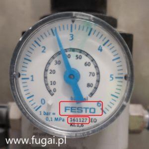 Nazwa producenta i nr katalogowy manometru na przykładzie sprzętu FESTO