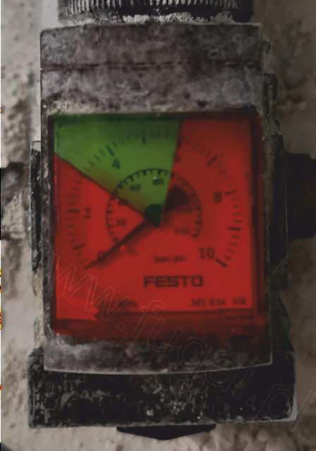 Wizualizacja ciśnienia na manometrze