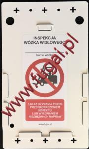 Etykieta wózka widłowego. Korpus