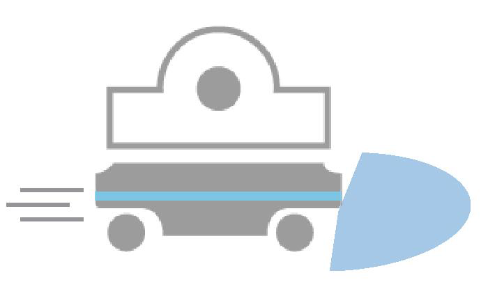 Pojazd porusza się jeśli strefa chroniona jest pusta